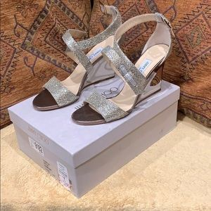 Jimmy Choo Fearne Champagne Wedges - 40